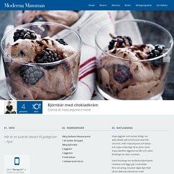 Björnbär med chokladkräm - Italiensk efterrätt