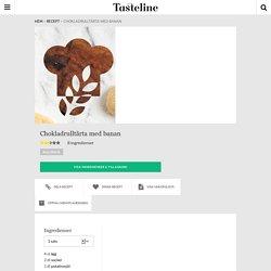 Chokladrulltårta med banan - Recept - Tasteline.com