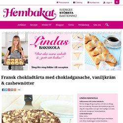 Fransk chokladtårta med chokladganache, vaniljkräm & cashewnötter