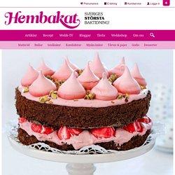 Chokladtårta med hallon & pistasch