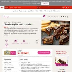 Chokladtryffel med crunch