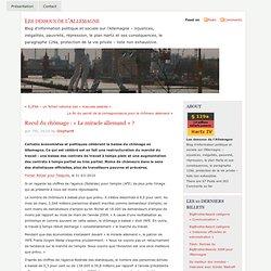 Les dessous de l'Allemagne » Blog Archive » Recul du chômage : «