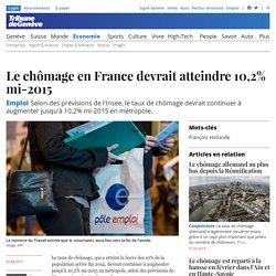 Emploi: Le chômage en France devrait atteindre 10,2% mi-2015
