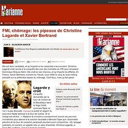 FMI, chômage: les pipeaux de Christine Lagarde et Xavier Bertrand