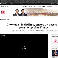 Chômage : le diplôme, encore un passeport pour l'emploi en France
