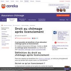 Droit au chômage après licenciement - Ooreka