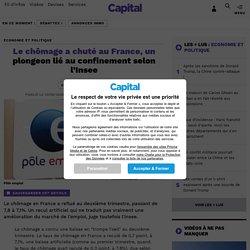 Le chômage a chuté au France, un plongeon lié au confinement selon l'Insee