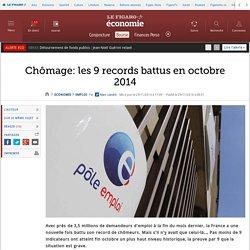 28/11 Chômage: les 9 records battus en octobre 2014