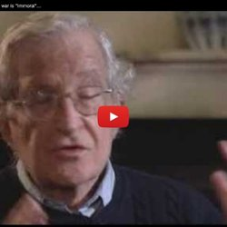 "Noam Chomsky feels that Afghan war is ""Immoral"" BBC Video"