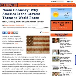 Noam Chomsky: Why America Is the Gravest Threat to World Peace