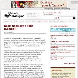 Noam Chomsky à Paris