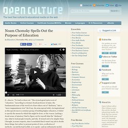 Noam Chomsky Spells Out the Purpose of Education