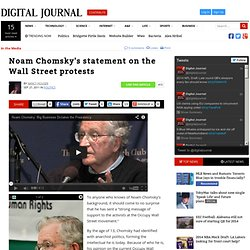Noam Chomsky's statement on the Wall Street protests