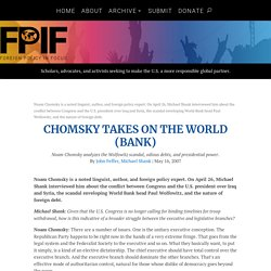 Chomsky Takes on the World (Bank)