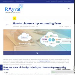 How to choose a Top accounting firms