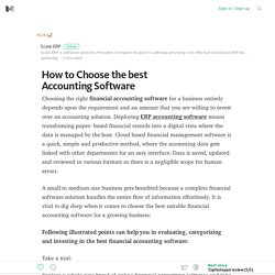 How to Choose the best Accounting Software – Medium
