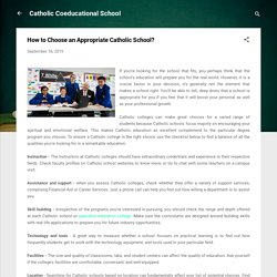 How to Choose an Appropriate Catholic School?