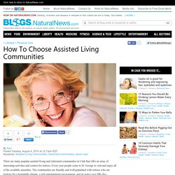 How To Choose Assisted Living Communities