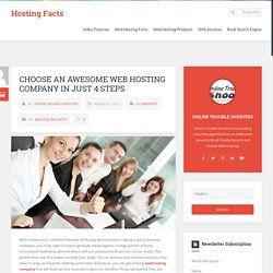 Choose an Awesome Web Hosting Company in Just 4 Steps