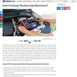 How To Choose The Best Auto Electrician?