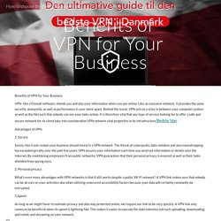 How to choose the Best VPN connection in Denmark