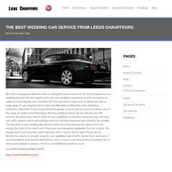 Choose Best Wedding car service