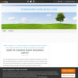 How to choose right business entity - formafirm.over-blog.com