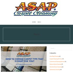 How to Choose Carpet Type That Is Right For You and Your Home Decore