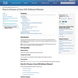 How to Choose a Cisco IOS Software Release