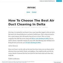 How To Choose The Best Air Duct Cleaning In Delta