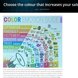 Choose the colour that increases your sales - Jet-Label