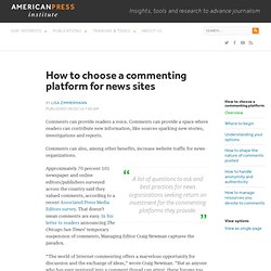 How to choose a commenting platform for news sites
