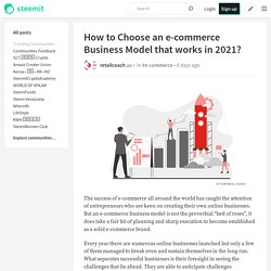 How to Choose an e-commerce Business Model that works in 2021?