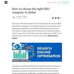 How to choose the right SEO company in Dubai - Infoquest IT - Medium
