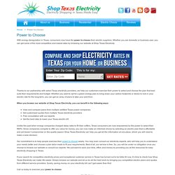 Power to Choose - Compare and Shop Cheap Electricity Texas, TX