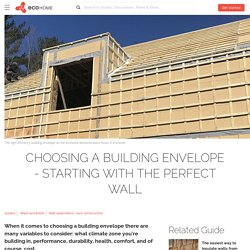 How to choose a wall system for home construction - Ecohome
