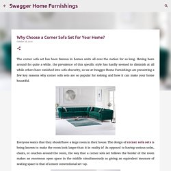 Why Choose a Corner Sofa Set for Your Home?