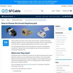 How to Choose the Correct Keystone Jack