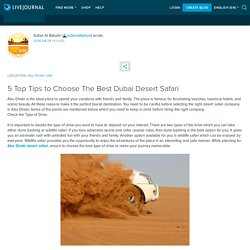 5 Top Tips to Choose The Best Dubai Desert Safari