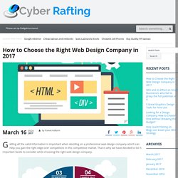 How to Choose the Right Web Design Company in 2017