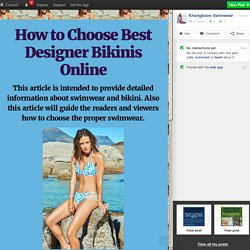 How to Choose Best Designer Bikinis Online
