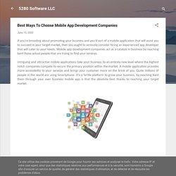 Best Ways To Choose Mobile App Development Companies