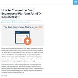 How to Choose the Best Ecommerce Platform for SEO (August 2016)