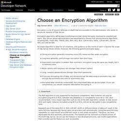 Choose an Encryption Algorithm