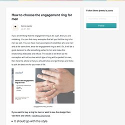 How to choose the engagement ring for men