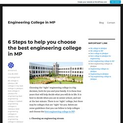 6 Steps to help you choose the best engineering college in MP – Engineering College in MP