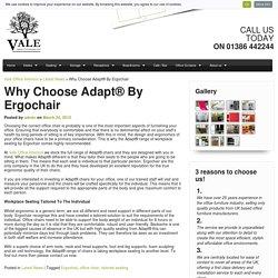 Advice on Choosing Adapt by Ergochair