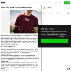 Steps Choose Fabric Silk Screen - transferit
