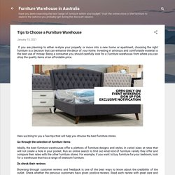 Tips to Choose a Furniture Warehouse
