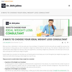 Dr Dirk Johns - Weight Loss Consultant in MA